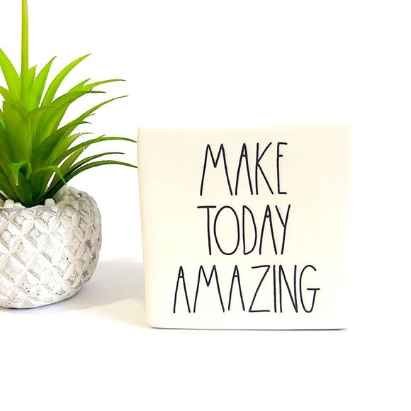 Rae Dunn MAKE TODAY AMAZING Ceramic Sign